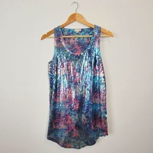 SILENCE + NOISE | Sequin Tank Top Size Small